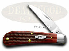 CASE XX Red Jigged Bone Sway Back Gent Pocket Knives