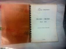 CATALOGO RICAMBI ORIGINALE HARLEY DAVIDSON SS 350 - SX 350 1973 SPARE PARTS