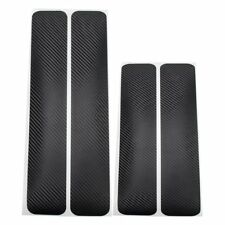 4 Pc Black Car Truck Door Sill Scuff Welcome Pedal Protect Carbon Fiber Stickers