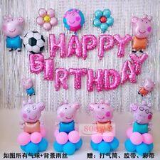 Foil Balloons Latex Happy Birthday Background Cartoon Wall Decoration Supplies
