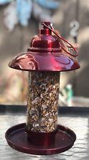 Red Bird Seed Feeder