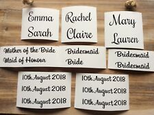 Wedding Hanger Stickers 1x Name/date/role Bride Bridesmaid Personalised Decal