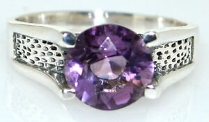 Amethyst Mens Ring 925 Sterling Silver Band Solitaire Gents Sizes M 6 To 15 Z5