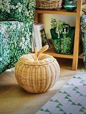 Brand New Laura Ashley Large Apple Rattan Storage Basket, BN