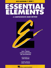 Essential Elements Book 1 Eb Alto Saxophone Band Method Beginner Music Lessons