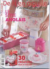 Magazine De Fil En Aiguille N°2 Carnet broderie  Point croix  Véronique Enginger
