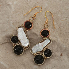 Tara Mesa Biwa Cultured Pearl & Onyx Earrings *STUNNING* [MSRP~$225]