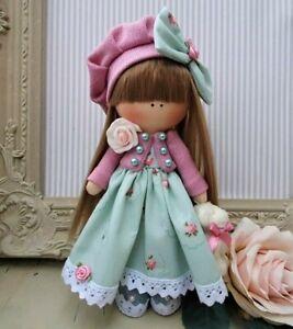 Rag doll handmade in the UK Tilda doll Ooak doll Art doll  MARISSA 8 inch tall