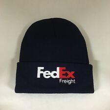 FedEx Freight Beanie Hat Decky Custom Embroidery Cuffed Knit NAVY