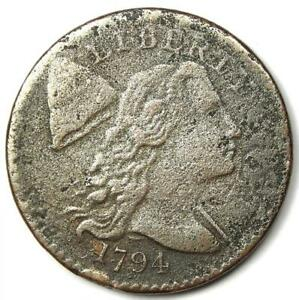 1794 Liberty Cap Large Cent 1C Coin - VF / XF Details (Corrosion) - Rare!