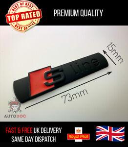 2x Audi S-Line Matt Black Badge Sticker Side Wing Emblem Fender TT RS