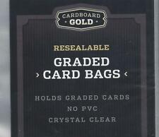 "25 ct. - CARDBOARD GOLD RESEALABLE GRADED CARD - TEAM BAGS 3 3/8"" x 5"" -"