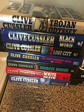 CLIVE CUSSLER Lot of 14 Hardcovers And 2 Soft Covers