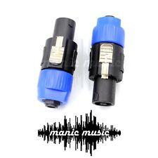 2x Speakon Jack to 1/4'' Mono Jack Female Socket Adapter Guitar cable to Speaker