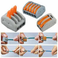Hot 2/3/4 Way Reusable Spring Lever Terminal Block Electric Cable Connector Wire