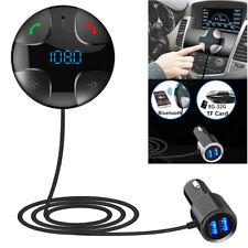 Kit coche inalámbrico Bluetooth Transmisor FM Reproductor MP3 Cargador USB dual