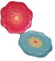 "Grasslands Road Flower Plate Set Of Two 8.75"""