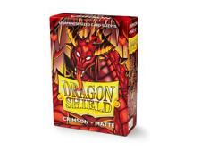 (60) Dragon Shield Matte JAPANESE/Mini Size Card Sleeves - CRIMSON AT-11121