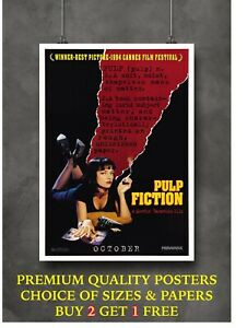 Pulp Fiction Classic Movie Art Large Poster Print Gift A0 A1 A2 A3 A4 Maxi