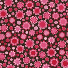 RJR Patrick Lose Lily's Garden Pink Brown Green Floral Quilt Quilting Sew Fabric