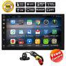 Camera+2Din 7''-GPS Navi Android 8.1 Quad-Core Car Stereo No-DVD Player Wifi USB