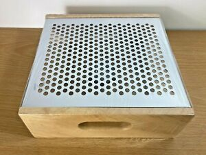 Tealight Food Warmer - Stainless Steel & Wood