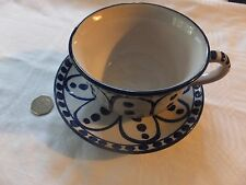 BIG  Cup & Saucer Rustic Pottery