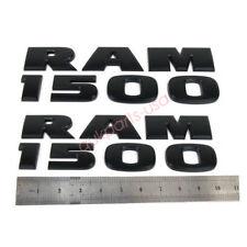 2x OEM Black Dodge RAM 1500 Emblem Badge 3D Decal Nameplate  Matte YU New