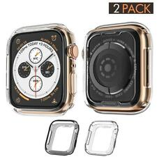 2 Pack: Black Grey Case Cover Compatible with Apple Watch Series 4 44mm (2018)