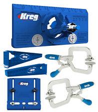Kreg Drawer Slide Mounting Tool,Cabinet Hardware Jig,Hinge Jig, & 2 Face Clamps