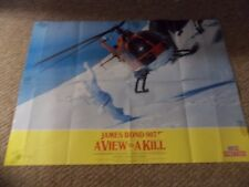 A VIEW TO KILL(1985)ROGER MOORE AS JAMES BOND LOT OF TWO BRITISH POSTERS
