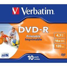 Verbatim Dvd-r 16x Speed 10er Pack JEWEL Case Printable