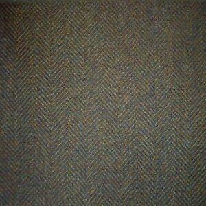 Green & Brown Herringbone Tweed - 2.50 Mtrs