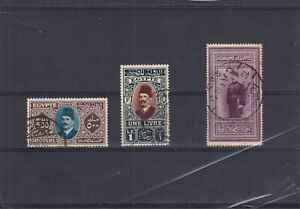 0048  Egypt 1926/1927 Nice lot of stamps see scan