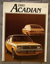 PONTIAC ACADIAN 1980 dealer brochure - French - Canadian Market
