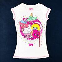Shopkins SPK Girls Size X-Small XS 4/5 White T Shirt Short Sleeve