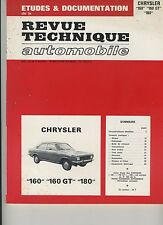 (35A) REVUE TECHNIQUE AUTOMOBILE CHRYSLER 160 160 GT 180