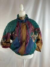 Vintage Active Stuff Nylon Bomber Windbreaker Zip Jacket Patchwork Jacket