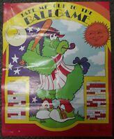 Vintage 1979 Philadelphia Phillies Baseball Phanatic Poster Game Schedule