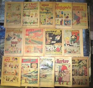 Coverless Comics Lot #4 - 15 books HUMOR 1948-1970 Dennis Menace Palooka VG/+