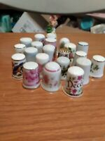 LARGE LOT OF 22 mix Thimble  THIMBLES flowers animals and more