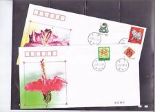 China 2001-2, 2002-1  New Year  Greeting, Zodiac , 2 x covers