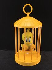Talking Plush Tweety Bird in Cage Motion Sensor Activated