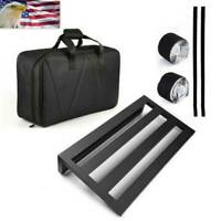 Guitar Effect Pedal Board Pedalboard Aluminum Alloy w/ Carry Bag Large