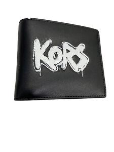 Michael Kors Spray Paint Graffiti Logo Billfold Wallet Vegan Faux Leather $148