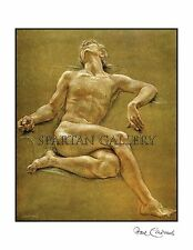 PAUL CADMUS NUDE MAN FINE ART POSTER MALE BODY NAKED MAN  GAY ART PRINT