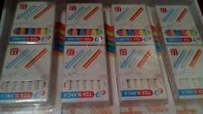 4 paquetes de tizas - 48 tizas de colores para pizarra blancas y colores