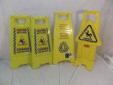 4 Assorted Caution Wet Floor Signs Height Of 24 To 265 A Style Amp No Tip