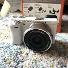 Sony Alpha Sony A6000 24.3MP Digital Camera Bundle - White - 2 Lens & Zoom Mic