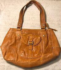 $349 FOSSIL Hobo Satchel Brown Leather Strappy Tote Shoulder Pocket Handbag